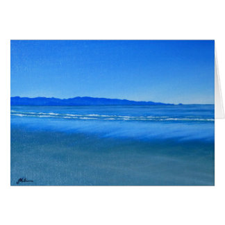 Tahunanui Beach, Nelson, New Zealand NZ Painting Card