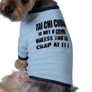 Tai Chi Chuan is not a crime Ringer Dog Shirt
