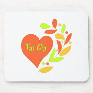 Tai Chi Heart Mouse Pad