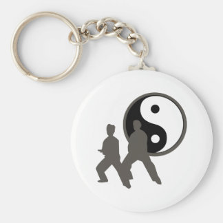 Tai Chi Basic Round Button Key Ring