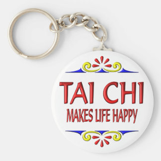 Tai Chi Makes Life Happy Basic Round Button Key Ring
