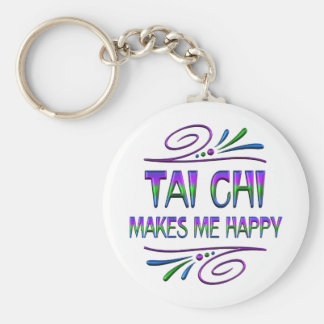Tai Chi Makes Me Happy Basic Round Button Key Ring