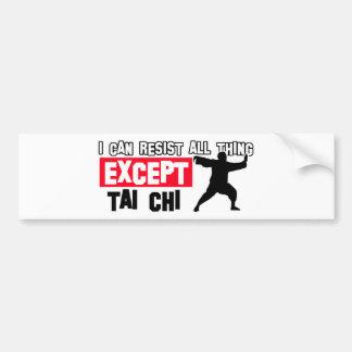 Tai chi martial design bumper sticker