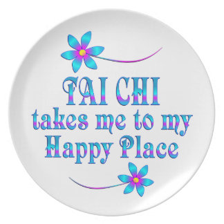 Tai Chi My Happy Place Plate
