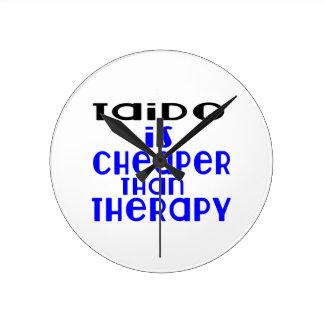 Taido Is Cheaper  Than Therapy Wallclocks