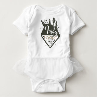 Taiga forest eco park promo sign baby bodysuit