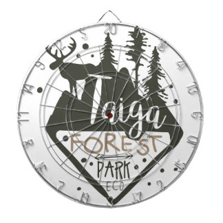 Taiga forest eco park promo sign dartboard