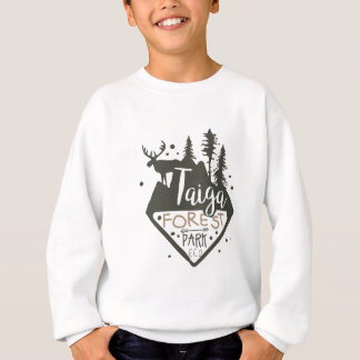 Taiga forest eco park promo sign sweatshirt