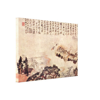 Taijiquan - Spring on the Min River Stretched Canvas Prints