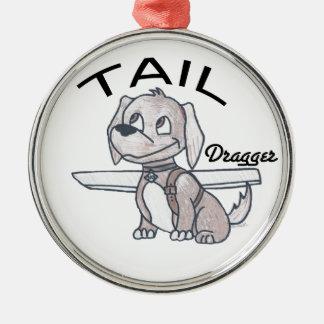 Tail Dragger Metal Ornament