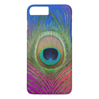 Tail feather of a peacock iPhone 8 plus/7 plus case