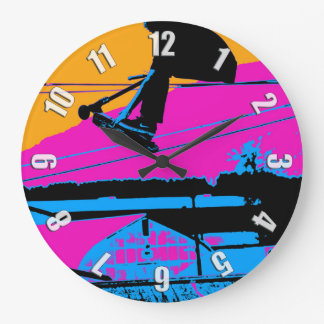 Tail Grabbing High Flying Scooter Large Clock
