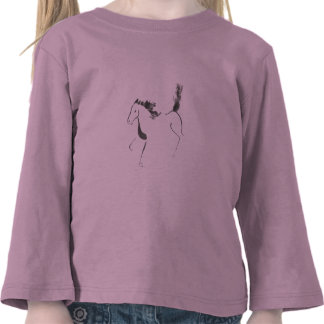Tail High Sumi-e Year of the Horse Tee Shirts