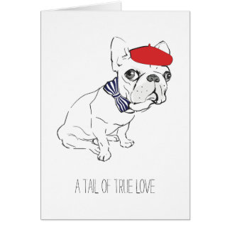 """""""Tail of True Love"""" Valentine's Day Card"""