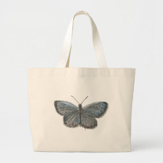 Tailed Blue Butterfly Large Tote Bag