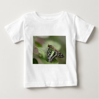 Tailed jay butterfly on leaf baby T-Shirt