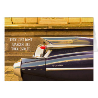 Tailfin Classic Car Cadillac Birthday Card