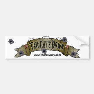Tailgate Down Bumper Sticker