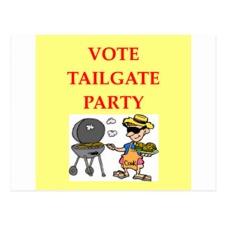 tailgate party post cards