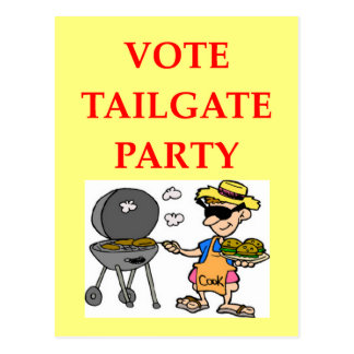 tailgate party postcard