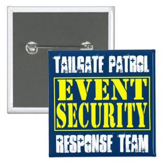Tailgate Patrol Event Security 15 Cm Square Badge