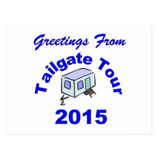 Tailgate Tour 2015 Postcard