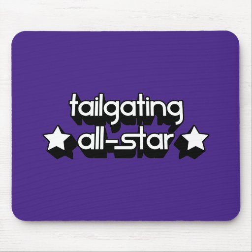 Tailgating All-Star in Any Team Colors Mouse Pads