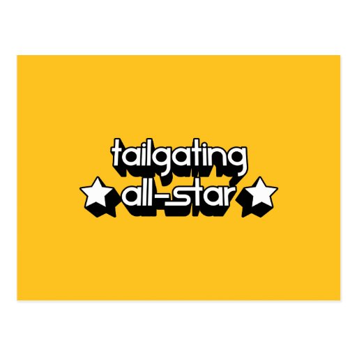 Tailgating All-Star in Any Team Colors Postcards