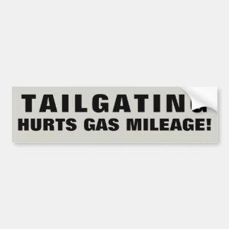 Tailgating Hurts Gas Mileage!. Wide Font Bumper Sticker