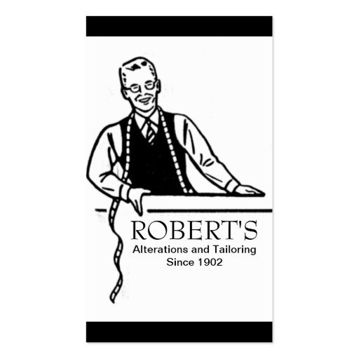 Tailor, Alterations, Tailoring, Seamstress Business Card