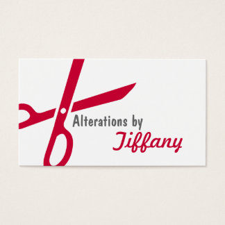 Tailor Alterations Tailoring Seamstress Tailor Business Card