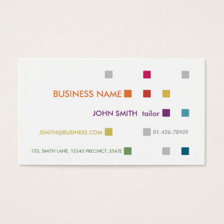Tailor Business Card Bright Squares