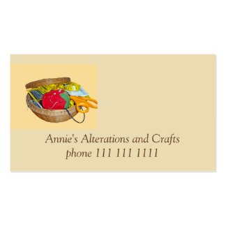 Tailor, Needle Work and Crafters Pack Of Standard Business Cards