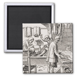Tailor, reproduction of a woodcut magnets