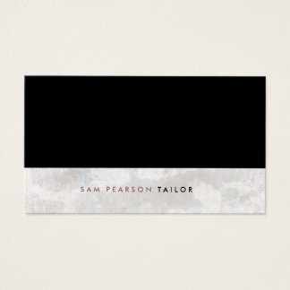 Tailor Simple Elegant Black Top Grunge Business Card