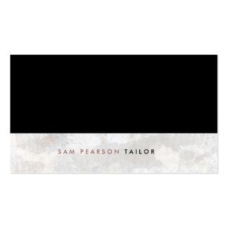 Tailor Simple Elegant Black Top Grunge Pack Of Standard Business Cards
