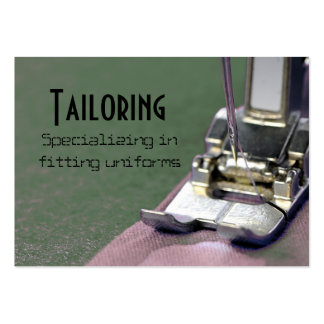 tailor, tailoring pack of chubby business cards