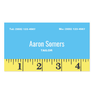 Tailors Measuring Tape Sewing Pack Of Standard Business Cards