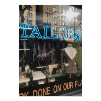 Tailor's Shop Window New York City Photography Poster