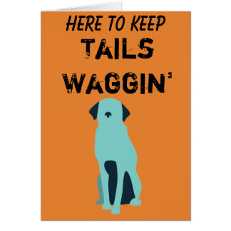 Tails Waggin' Charity occasion card (summer range)