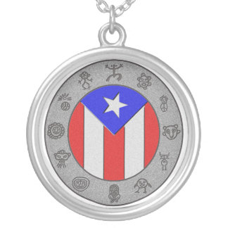 Taino Wheel Silver Plated Necklace
