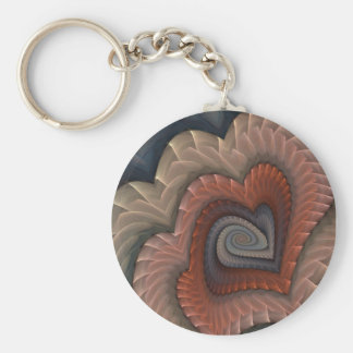 Tainted Love Abstract Heart Key Ring