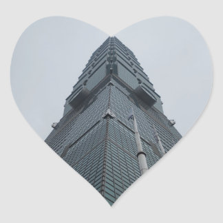Taipei 101 Heart Sticker
