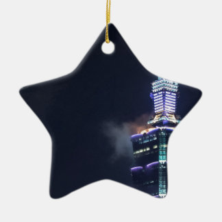 Taipei 101 Tower in Taiwan, Closeup Ceramic Ornament