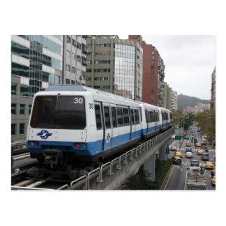 Taipei Metro leaving Liuzhangli station, Taipei Postcard