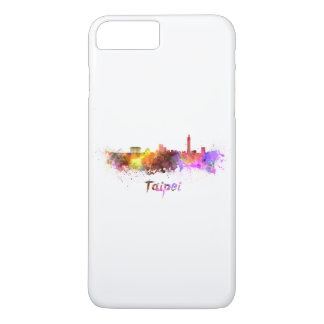Taipei skyline in watercolor iPhone 7 plus case