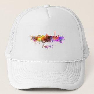 Taipei skyline in watercolor trucker hat