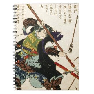 Taiso - Ronin fending off arrows Spiral Note Book