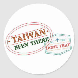 Taiwan Been There Done That Classic Round Sticker