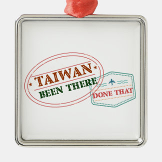 Taiwan Been There Done That Metal Ornament